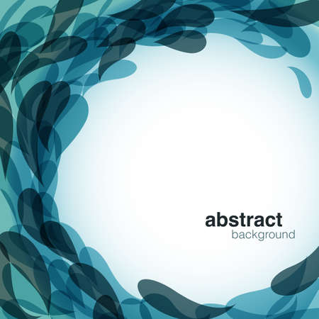 Blue Abstract Background - Vector abstract wave background