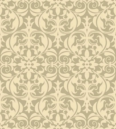 tile pattern: Damask Pattern - Vector seamless pattern background   File includes pattern swatch