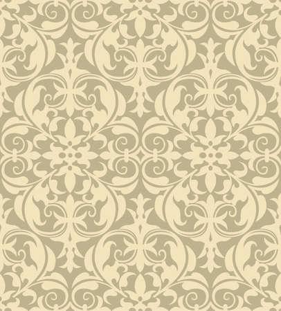 seamless pattern background: Damast-Muster - Vektor nahtlose Muster Hintergrund Datei enth�lt Muster-Farbfeld