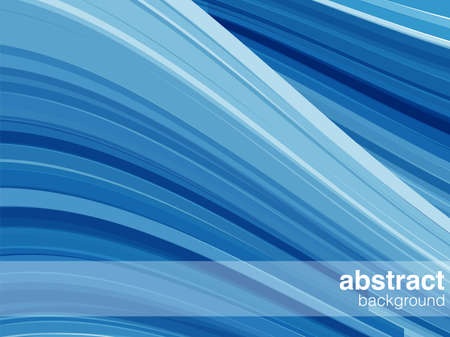 Blue Abstract Background - Vector abstract wave background   Illustration