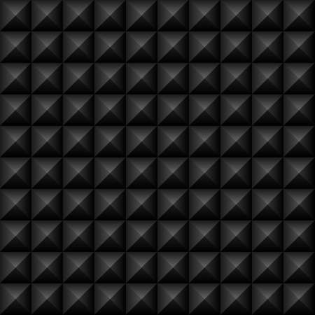 Black Studs Seamless Texture - Vector black studs seamless texture   File includes global colors and pattern swatch