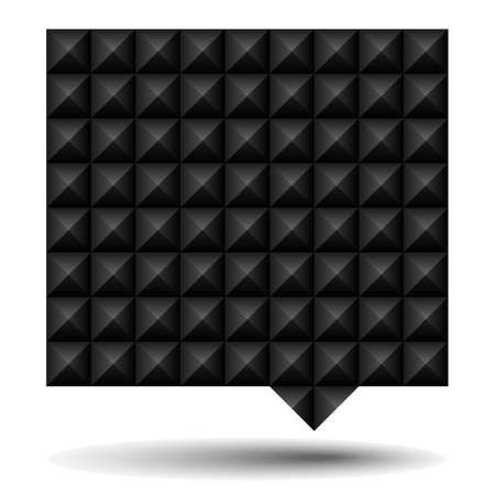 studs: Black Textured Speech Bubble - Speech bubble with black studs texture