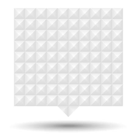 studs: White Textured Speech Bubble - Speech bubble with white studs texture