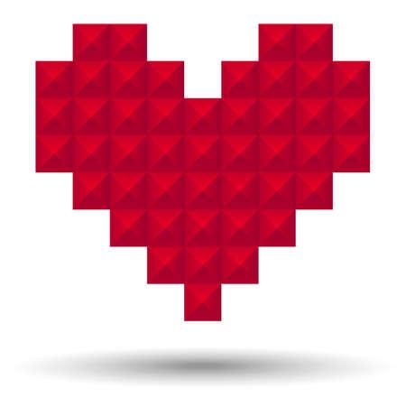 Pixel Heart - Vector pixel heart   Illustration