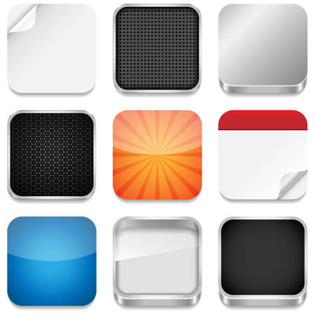 App Icon Templates -  Vector backgrounds for app icons Banco de Imagens - 24328655