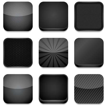 벡터 앱 아이콘 - 검은 색의 다른 스타일 일러스트