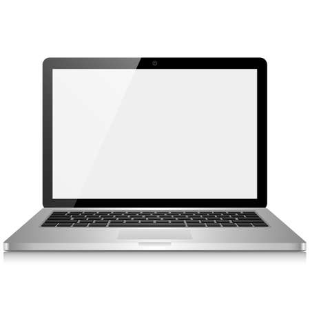 laptop screen: Laptop Computer with Blank Screen - isolated on white background   File is layered   Illustration