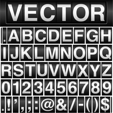 Kilometerteller Numbers - Vector kilometerteller achtergrond met verwisselbare cijfers en valuta symbolen Letters, cijfers en symbolen passen perfect bij elkaar