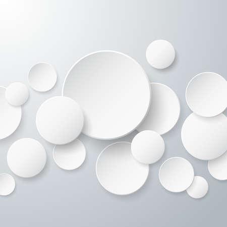 floating: Floating Paper Circles Background Illustration