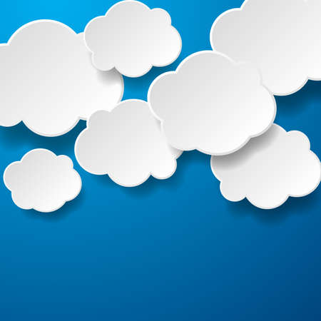 floating: Floating Paper Clouds Background