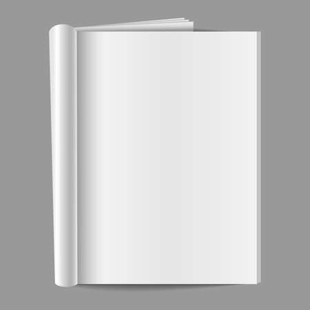 blank magazine: Blank Folded Magazine - isolated on a gray background   EPS10 file with transparency  Illustration