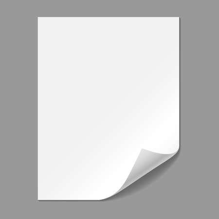 コーナーを折ると単一の紙のページ