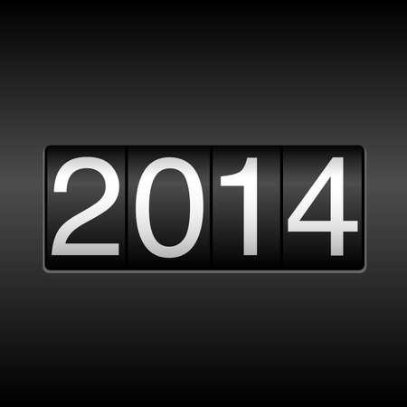 2014 New Year Odometer - Gebruikt eenvoudig verlopen Stock Illustratie