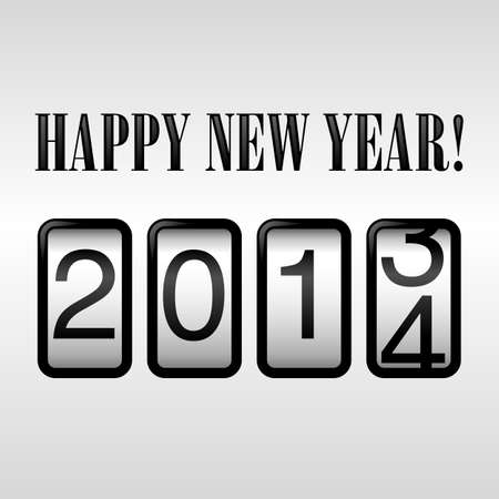 odometer: Happy New Year 2014 Odometer Background   Illustration