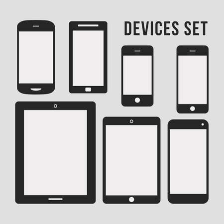 cellphone icon: Flat Smartphone and Tablet Icons