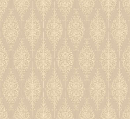 beige: Vintage Seamless Pattern - Pattern swatch is included in swatches window  Illustration