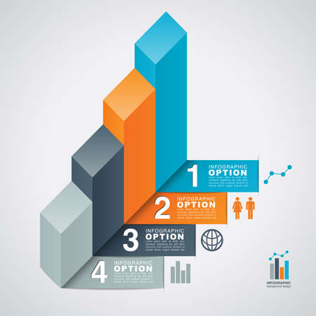 grey: Bar Graph Infographic Option Background - Infographic option background forming the shape of a bar graph   Eps10 file with transparency  Illustration