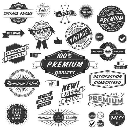 빈티지의 Copyspace 디자인 요소 빈티지 프레임, 배너, 라벨 및 장식품. 각각의 디자인은 그룹화 및 색상 쉽게 편집 할 글로벌 있습니다.