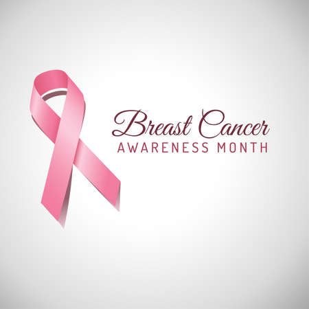 Breast Cancer Awareness Ribbon Background. File is layered, and colors are global swatches for easy editing.  File is EPS 10 with transparency.
