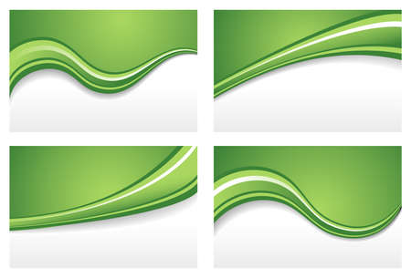 backgrounds: Green Wave Backgrounds