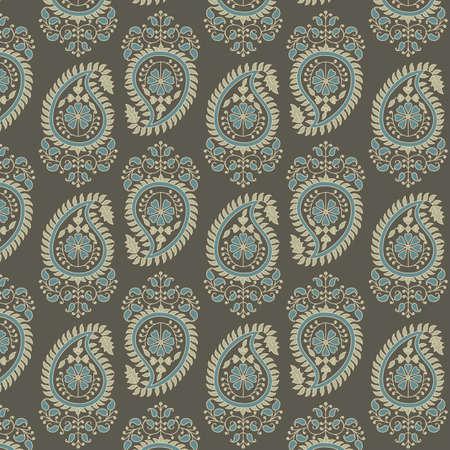 페이 즐 리 패턴 - 벡터 배경 무늬입니다. 색상은 쉽게 편집 할 수있는 세계적인 견본입니다.