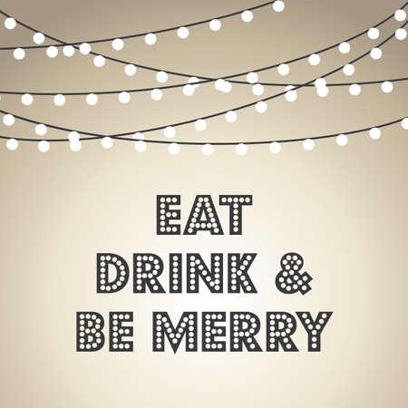 luces navidad: Luces de Navidad de fondo - fondo de vacaciones de Navidad con luces de cadena. Vectores