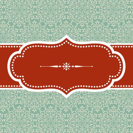 크리스마스 배경 - 다 배경에 눈송이 텍스트 분할기 빈티지 프레임 디자인입니다. 다 배경 견본은 견본 패널에 포함되어 있습니다. 색상이 쉬운 편집을