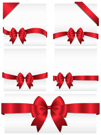 adjusted: Ribbon Banners - Set of 5 ribbon banners wrapping around white copy space, as well as 2 corner banners.  Ribbons can be adjusted easily to fit any format.