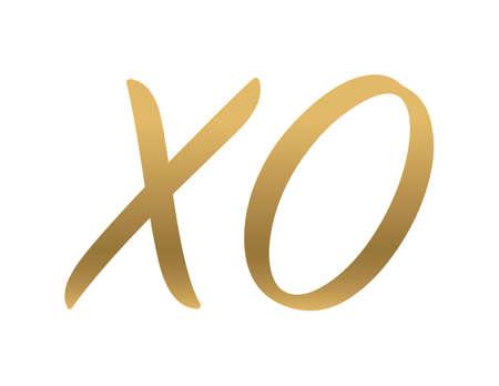 XO Valentine Background  Ilustração