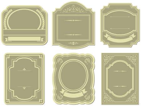 rule line: Set of vintage style labels Illustration