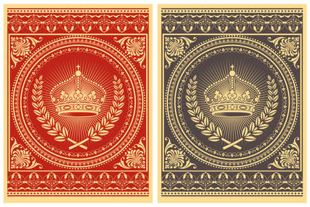 fancy border: Retro Poster - Vector poster design.  Colors are global for easy editing.