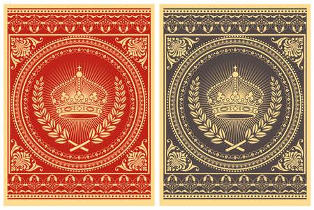 Retro Poster - Vector poster design. De kleuren zijn globaal voor het gemakkelijke uitgeven. Stock Illustratie