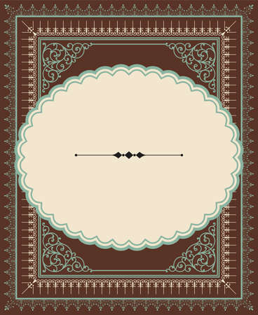 cartouche: Vintage Letterpress-style frame - Vintage background with letterpress style ornaments.  Colors are global for easy editing.  Repeating border brushes are included in brushes window.