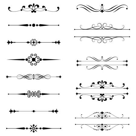 to twirl: Typographic Ornaments  Rule Lines  Set of text dividers.