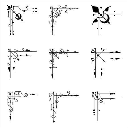 9 ベクトル角要素の角を設定します。 各要素は、簡単に編集できるグループ化されます。
