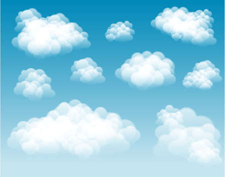 Vector Clouds  Clouds can be used on any color background.