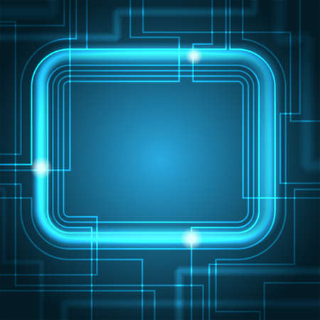 internet background: Abstract Glowing Technology Background - Abstract blue, glowing technology background with copy space.  File may be recolored easily.  File is layered for easy editing. Illustration