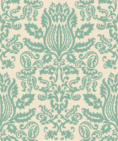 Damask Wallpaper Pattern - Seamless pattern swatch included in swatches window.  Colors are global for easy editing. Banco de Imagens - 41757440
