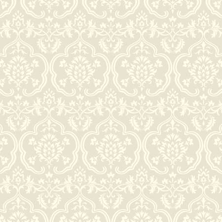 victorian wallpaper: Damask Wallpaper Pattern - Seamless pattern swatch included in swatches window.  Colors are global for easy editing. Illustration