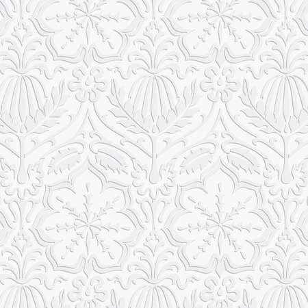 Carta Damask Pattern - Seamless campione incluso nella finestra di campioni. I colori sono globali per un facile montaggio. Archivio Fotografico - 42033412