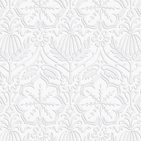swatch: Paper Damask Pattern - Seamless pattern swatch included in swatches window.  Colors are global for easy editing.
