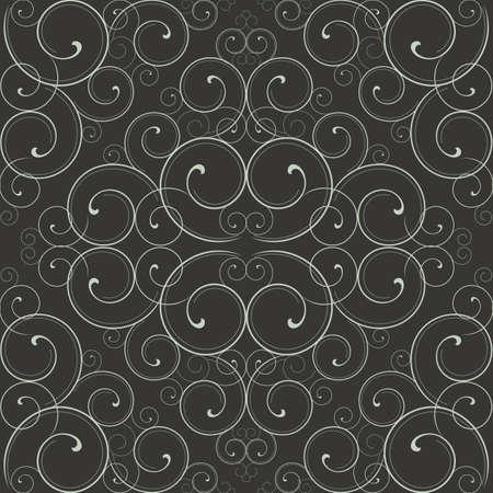 화려한 스크롤 패턴 - 원활한 패턴 견본은 견본 창에 포함되어 있습니다. 색상은 쉽게 편집 할 글로벌 있습니다.