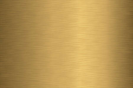 gold brown: Brushed Gold Texture - Brushed gold metal background texture.  Just one compound path over gradient background, on two separate layers for easy editing.