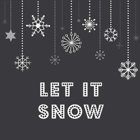 flocon de neige: Flocons de neige de No�l Contexte - Tableau noir texture de No�l flocons de neige fond