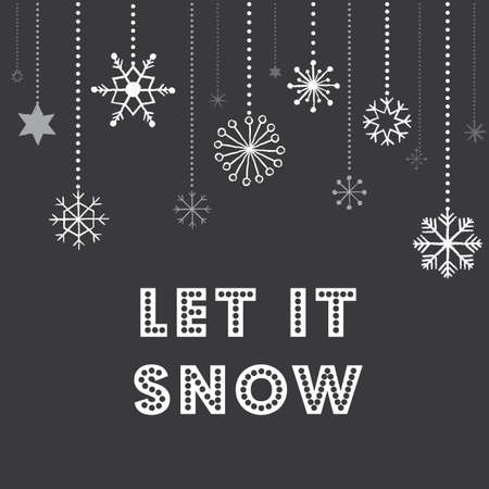 Christmas Snowflakes Background - Chalkboard texture Christmas snowflakes background