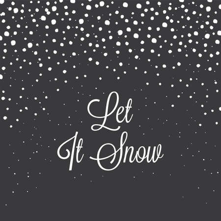Christmas Snowflakes Background - Chalkboard texture Çizim