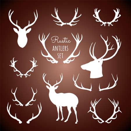 Rustieke Antlers Set Stock Illustratie