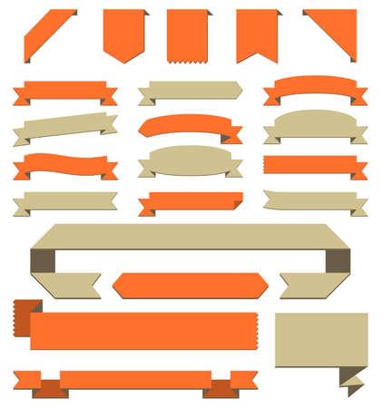 spruchband: Banner gesetzt - Setzen von Bannern für Exemplar. Jeder Banner wird individuell für das einfache Bearbeiten gruppiert.