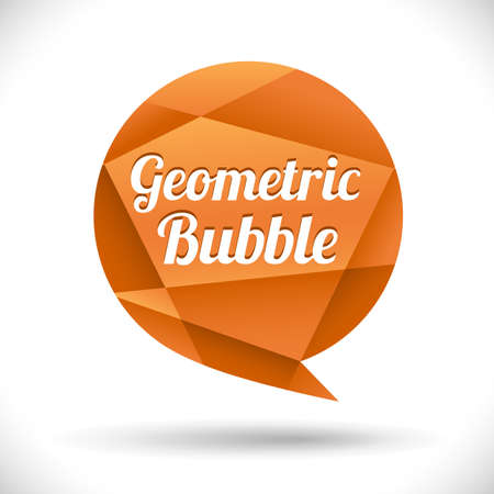 Geometric Speech Bubble - Orange geometric speech bubble. Colors are just a few global swatches.  All elements are separate.  File is layered for easy editing. Ilustrace