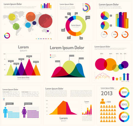 stockmarket: Infographic Layout  - Infographic template design and design elements.  Each object is grouped and colors are global. Illustration